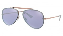 Ray-Ban RB3584N Blaze Aviator Sunglasses - Bronze Copper / Violet Mirror