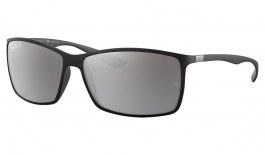 Ray-Ban RB4179 Liteforce Sunglasses - Matte Black / Polarised Silver Mirror
