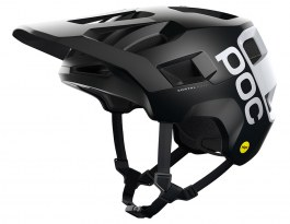 POC Kortal Race MIPS Mountain Bike Helmet - Matte Uranium Black & Hydrogen White