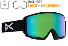 Anon M3 MFI Ski Goggles - Black / Sonar Green + Sonar Infrared