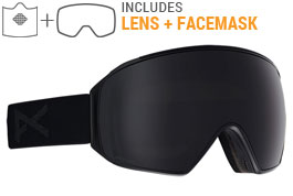 Anon M4 Toric MFI Ski Goggles - Smoke / Sonar Smoke + Sonar Blue