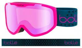 Bolle Rocket Plus Ski Goggles - Matte Pink & Blue / Rose Gold
