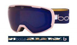 Bolle Laika Ski Goggles - Matte Pink & Navy / Bronze Blue