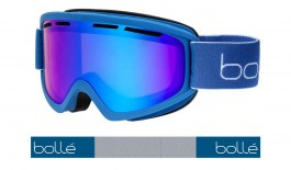 Bolle Freeze Plus Ski Goggles - Matte Yale Blue / Vermillon Blue Photochromic