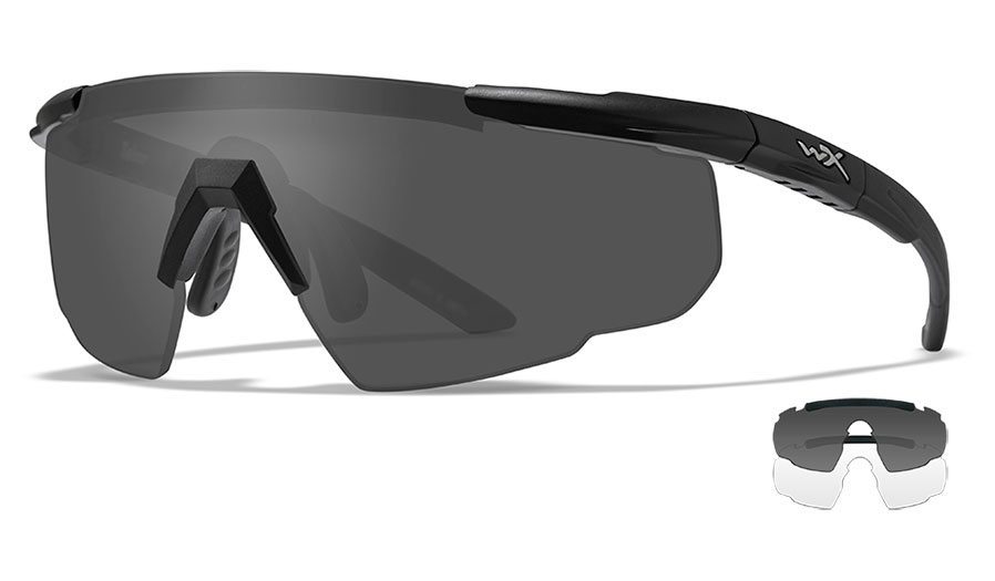 Wiley X Saber Advanced Sunglasses - Matte Black / Smoke Grey + Clear