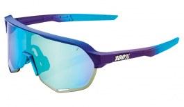 100% S2 Sunglasses - Matte Metallic Into the Fade  / Blue Topaz Multilayer Mirror + Clear