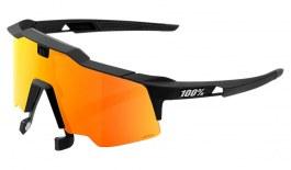 100% Speedcraft AIR Sunglasses - Soft Black / HiPER Red Multilayer Mirror + Clear