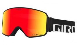 Giro Method Ski Goggles - Black Wordmark / Vivid Ember + Vivid Infrared