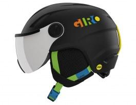 Giro Buzz MIPS Ski Helmet - Matte Black & Party Blocks / Silver Mirror