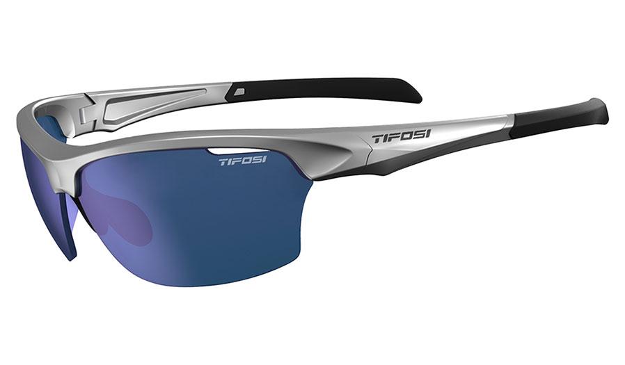 Tifosi Intense Sunglasses - Metallic Silver / Smoke Blue