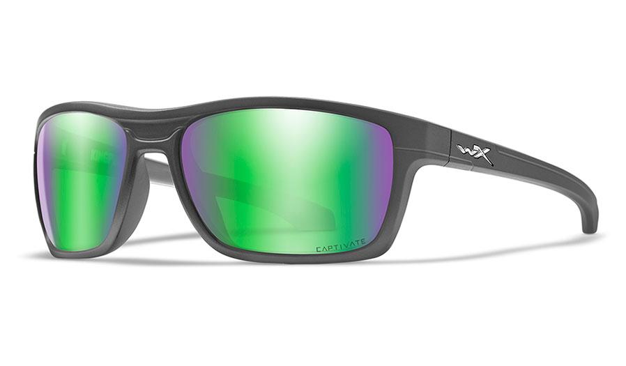 Wiley X Kingpin Sunglasses - Matte Graphite / Captivate Green Mirror Polarised