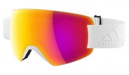 adidas ad85 Progressor Splite Ski Goggles - Shiny White / Purple Mirror