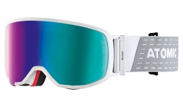 Atomic Revent S Ski Goggles - White / Green Stereo HD