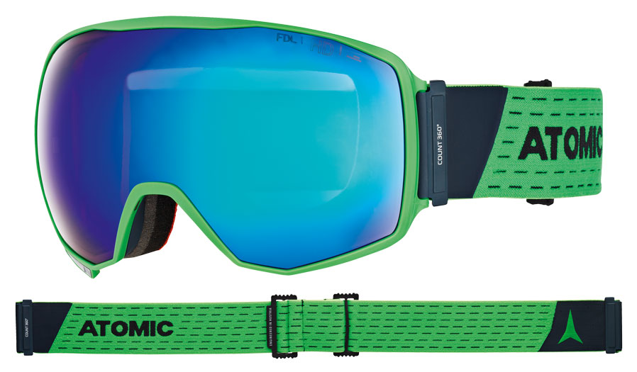 Atomic Count 360 Ski Goggles - Green / Blue Stereo HD