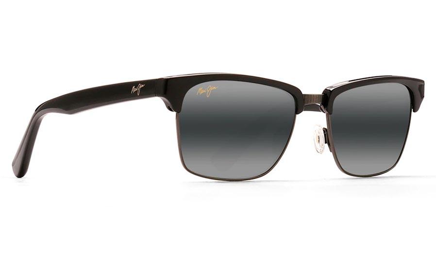 Maui Jim Kawika Prescription Sunglasses - Black Gloss with Antique Pewter