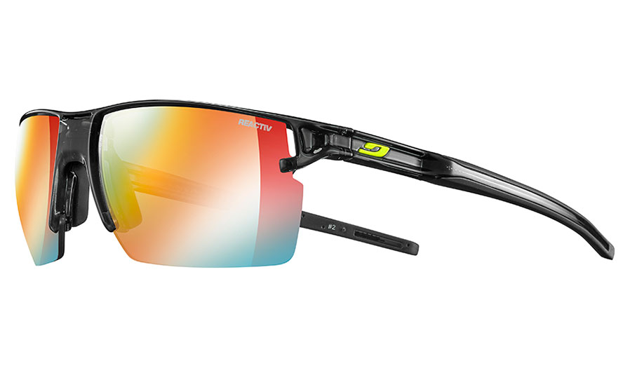Julbo Outline Sunglasses - Translucent Black / Reactiv Performance 1-3 Light Amplifier Photochromic