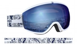 Salomon iVY Ski Goggles - White Glitch / Sigma Sky Blue