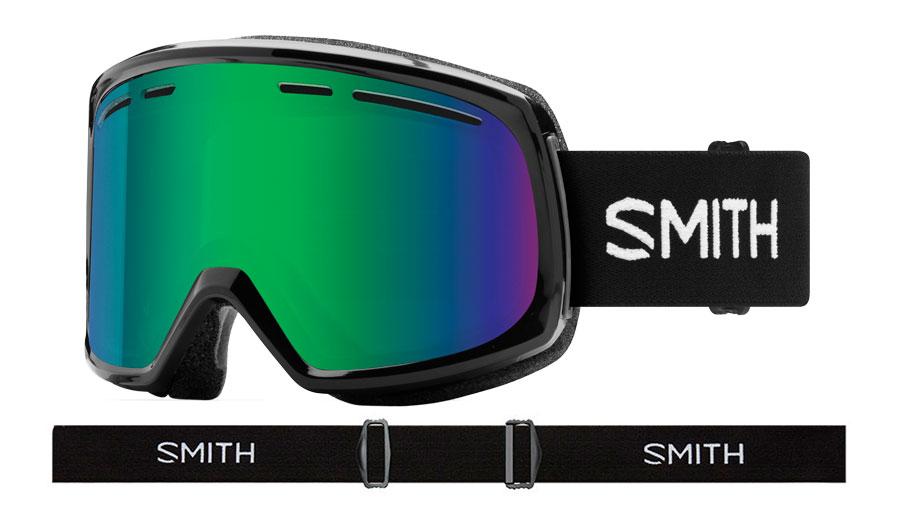 Smith Range Prescription Ski Goggles - Black / Green Sol-X Mirror