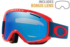 Oakley O Frame 2.0 XM Ski Goggles - Red Poseidon / Black Ice Iridium + Persimmon