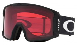 Oakley Line Miner Prescription Ski Goggles - Matte Black / Prizm Rose