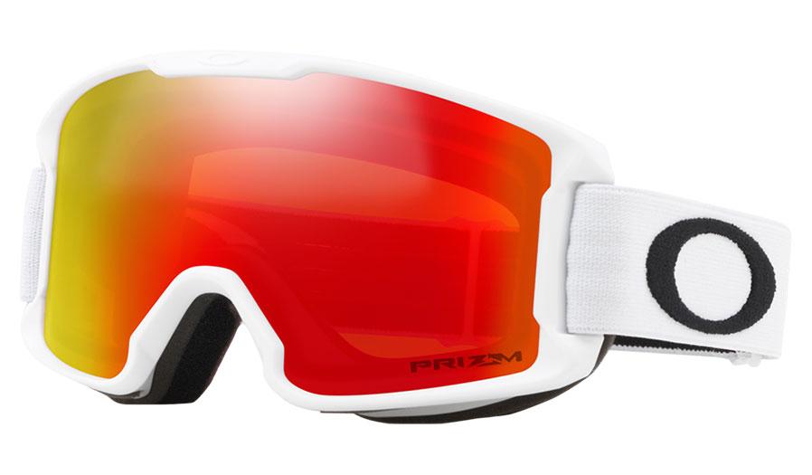 Oakley Line Miner Youth Ski Goggles - Matte White / Prizm Torch Iridium