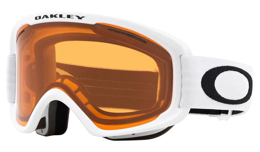 Oakley O Frame 2.0 Pro XM Ski Goggles - Matte White / Persimmon + Dark Grey