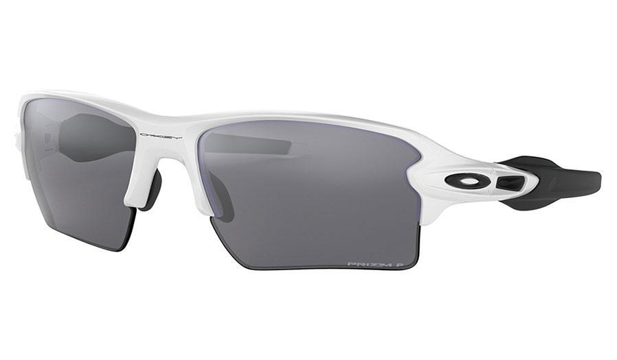 Oakley Flak 2.0 XL Sunglasses - Polished White & Black / Prizm Black Polarised