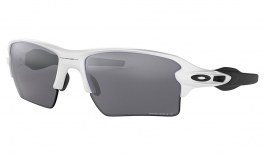 Oakley Flak 2.0 XL Sunglasses - Polished White & Black / Prizm Black Polarised