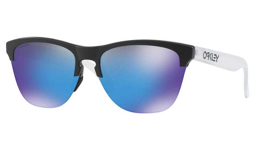 Oakley Frogskins Lite Sunglasses - Matte Black / Prizm Sapphire