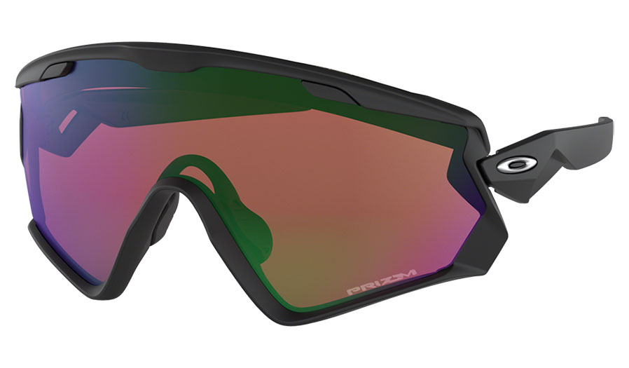 9d64c4ed6 Oakley Wind Jacket 2.0 Ski Sunglasses - Matte Black / Prizm Snow Jade