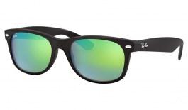 Ray-Ban RB2132 New Wayfarer Sunglasses - Matte Black / Green Flash
