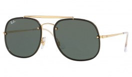 Ray-Ban RB3583N Blaze General Sunglasses - Gold / Green