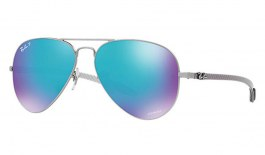 Ray-Ban RB8317CH Chromance Sunglasses - Gunmetal / Blue Mirror Chromance Polarised