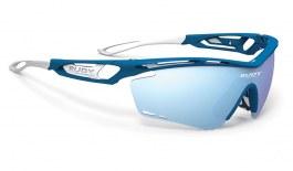 Rudy Project Tralyx Prescription Sunglasses - Clip-On Insert - Matte Blue Metal / Multilaser Ice