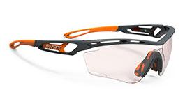 Rudy Project Tralyx Prescription Sunglasses - Clip-On Insert - Matte Pyombo & Mandarin / ImpactX 2 Photochromic Red