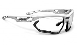 Rudy Project Fotonyk Prescription Sunglasses - Clip-On Insert - White Gloss / ImpactX 2 Photochromic Black