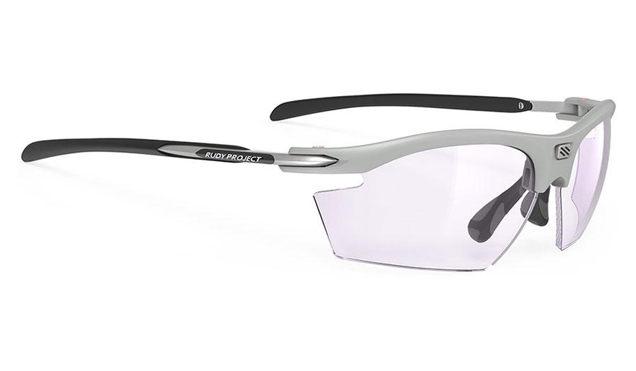 Rudy Project Rydon Prescription Sunglasses - Clip-On Insert - Matte Light Grey / ImpactX 2 Photochromic Laser Purple