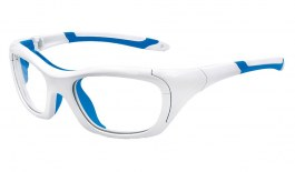VerSport Hercules EVO Glasses - White & Blue / Clear