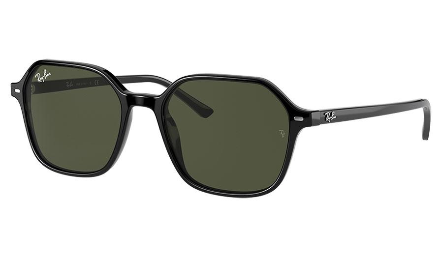 Ray-Ban RB2194 John Sunglasses - Black / Green