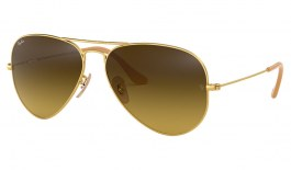 Ray-Ban RB3025 Aviator Sunglasses - Matte Gold / Brown Gradient