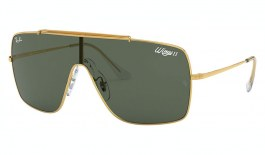 Ray-Ban RB3697 Wings II Sunglasses - Gold / Green