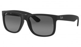 Ray-Ban RB4165 Justin Sunglasses - Black Rubber / Grey Gradient Polarised