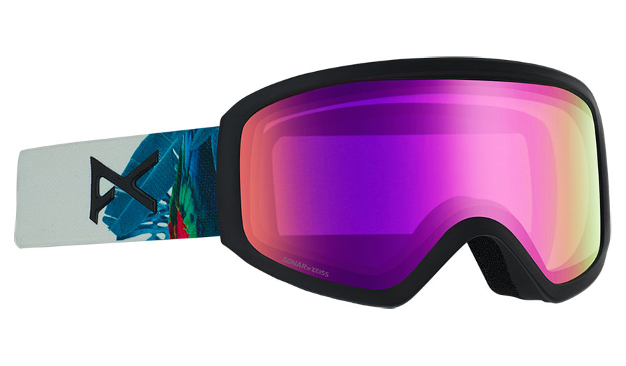 Anon Insight Prescription Ski Goggles - Parrot / Sonar Pink + Amber
