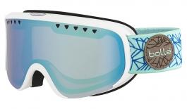 Bolle Scarlett Ski Goggles - Matte White & Blue Diamond / Aurora