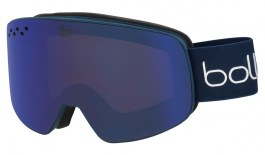 Bolle Nevada Ski Goggles - Matte Blue & White Diagonal / Bronze Blue