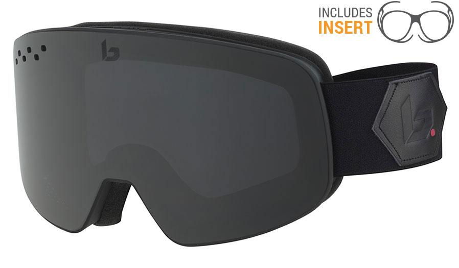 66033944036 Bolle Nevada Prescription Ski Goggles - Matte Black Corp   Grey - RxSport