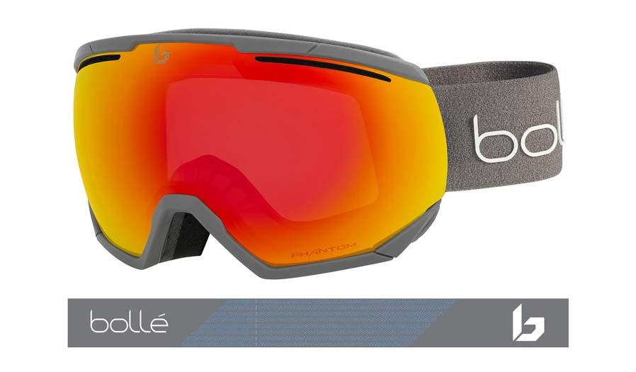 Bolle Northstar Ski Goggles - Matte Grey / Phantom Fire Red Photochromic