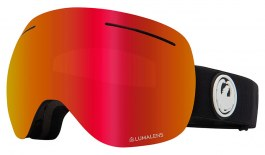 Dragon X1 Ski Goggles - Black / Lumalens Red Ion + Lumalens Rose