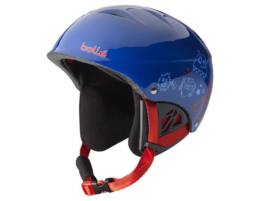 Bolle B-Kid Ski Helmet - Shiny Blue Monster
