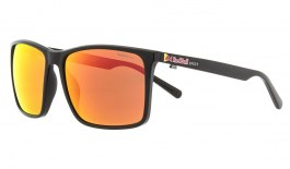 Red Bull Bow Sunglasses - Shiny Black / Brown Red Mirror Polarised